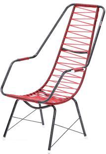 Cadeira De Fio Trançado Eletrostático Plus Vermelho Fabone Móveis