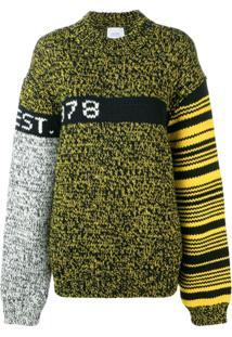 Calvin Klein Jeans Est. 1978 Colour Block Oversized Jumper - Preto