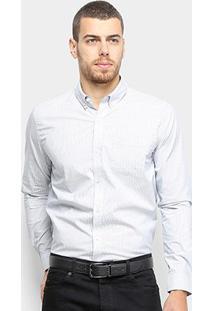 Camisa Lacoste Masculina - Masculino-Off White