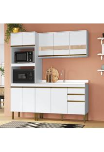Cozinha Completa 3 Peças Em Mdf Branco Lilies Móveis