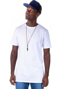 Camiseta Gang Básica Alongada Branca