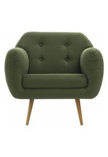 Poltrona Liverpool Verde Pes Palito Tauari - 50153 Verde