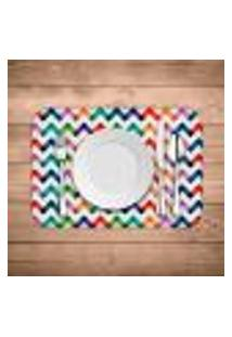 Jogo Americano Wevans Colorful Abstract Kit Com 4 Pçs