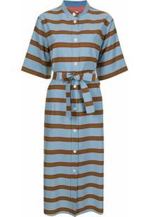 Paul Smith Striped Shirt Dress - Azul
