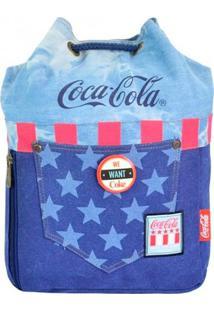 Bolsa Coca-Cola Saco Nation Azul T Un
