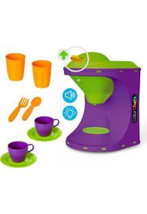Color Chefs Kit Cafeteira - Laranja E Roxo Usual Plastic