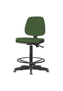 Cadeira Job Assento Crepe Verde Base Caixa Metalica Preta - 54540 Verde