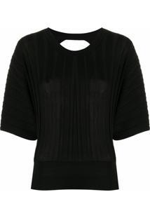 Pinko Blusa De Tricô Com Abertura Posterior - Preto