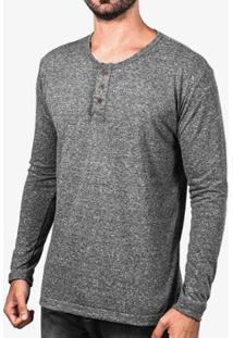 Camiseta Hermoso Compadre Henley Manga Longa Masculina - Masculino