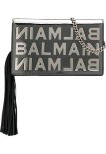 Balmain Clutch Bbox Espelhada Mini - Prateado