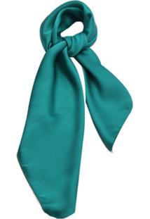 Lenço Smm Acessorios Liso Verde Esmeralda