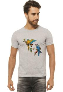 Camiseta Joss - Arara Colorida - Masculina - Masculino-Mescla