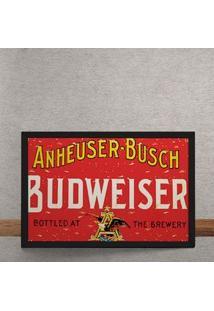 Quadro Decorativo Cerveja Budweiser The Brewery Vintage 25X35