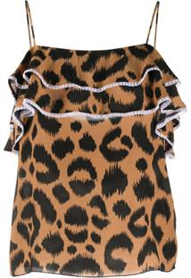 Hayley Menzies Camisola Com Estampa De Leopardo - Marrom