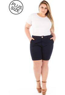 Shorts Jeans Lucky Blue Plus Size - Tricae