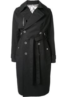 Unravel Project Trench Coat Com Cinto - Preto