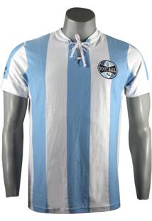 Camiseta Masculina Grêmio Retro 1917 Natural Cotton