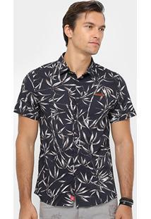 Camisa Coca-Cola Bolso Full Print Floral Masculina - Masculino