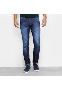 Calça Jeans Skinny Biotipo Escura Estonada Masculina - Masculino