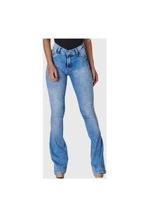 Calça Jeans Hno Jeans Flare Sky Brech Azul