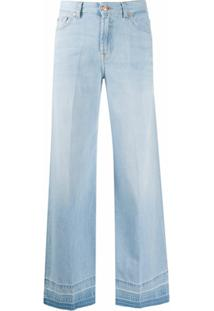 7 For All Mankind Calça Jeans Flare - Azul