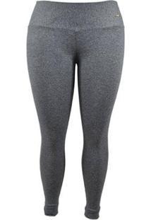 Legging Supplex Plus Size Best Fit - Feminino-Cinza