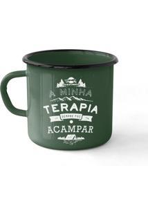 Caneca Guepardo Ferro Esmaltada Camping Terapia