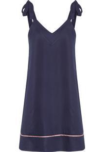 Camisola Curta Regata Blanche - Azul Marinho