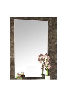Espelheira Para Banheiro Com Painel 60Cm Branco Em Mdf
