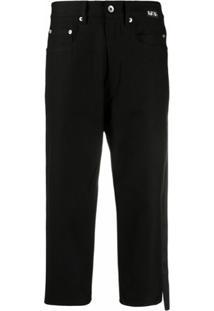 Rick Owens Drkshdw Calça Jeans Cropped - Preto