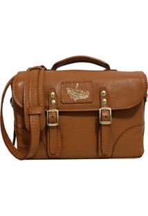 Bolsa Line Store Leather Case Couro Caramelo.