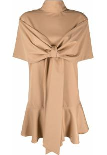 Atu Body Couture Bow-Detail Flared Mini Dress - Neutro