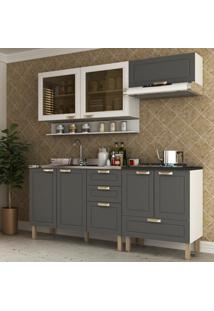Cozinha Completa 5 Peã§As Americana Multimã³Veis 5917 Branco/Grafite - Branco/Incolor - Dafiti