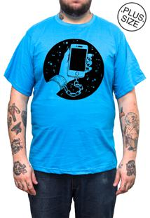 Camiseta Hshop Plus Size Slave Azul Turquesa
