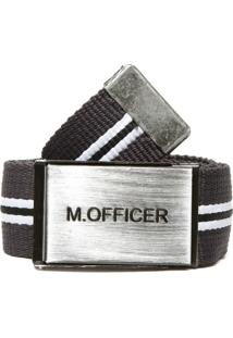 Cinto M. Officer Fivela Cinza