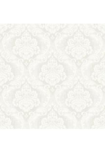 Papel De Parede Arabescos- Branco & Marrom Claro- 10Shark Metais