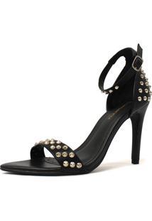 Sandália Damannu Shoes Sunny Spikes Preto