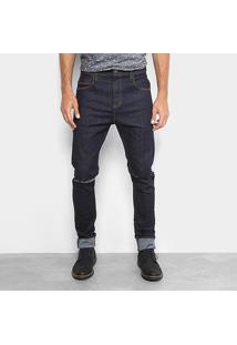 Calça Jeans Slim Colcci Enrico Com Rasgo Masculina - Masculino
