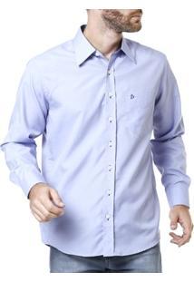 Camisa Manga Longa Masculina Lilás - Masculino