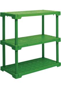 Estante Cube Com 3 Prateleiras Verde