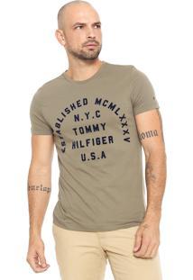 Camiseta Tommy Hilfiger Estampada Verde