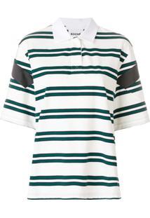 Camisa Pólo Curta Listras feminina  423f3d2e6d70b