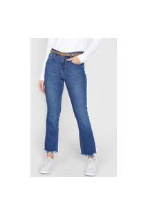 Calça Jeans Cantão Reta Comfort Azul