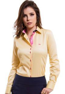 Camisa Principessa Sara Amarela