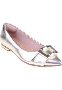 Sapatilha Shop Shop Shoes Verniz Feminina - Feminino-Laranja