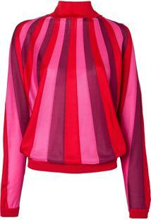 Blusa Suzi Com Gola (Rosa Clarovermelho Claroroxo Escuro, G)