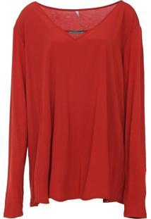 Blusa Cativa Plus Recorte Vermelha
