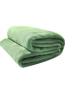 Cobertor Camesa Velour De Microfibra Neo 300G Casal Verde