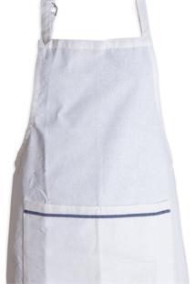 Avental De Cozinha Simples Branco E Azul