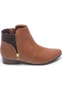 Ankle Boot Feminina Comfortflex Marrom